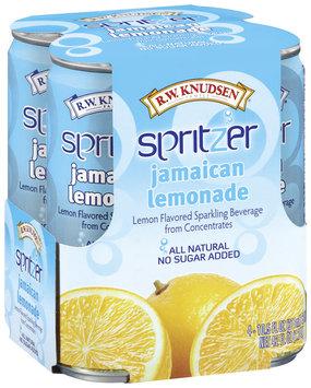 R.W. Knudsen Spritzer Jamaican Lemonade Lemon Flavored 10.5 Oz Sparkling Beverage 4 Pk Cans