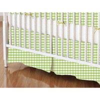 Stwd Gingham Jersey Knit Crib Skirt