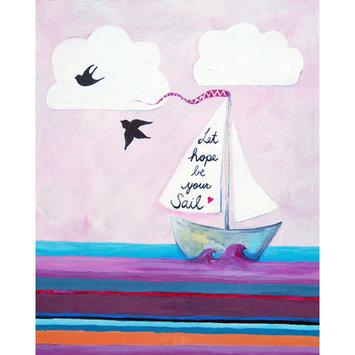 Cici Art Factory Nautical Let Hope Be Your Sail Gicl e Canvas Print