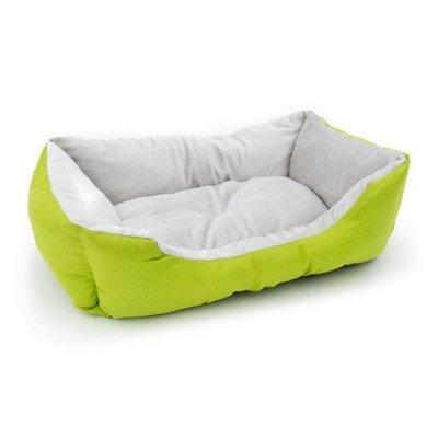 Aleko Soft Plush Pet Cushion Crate Bed Mat Color: Green