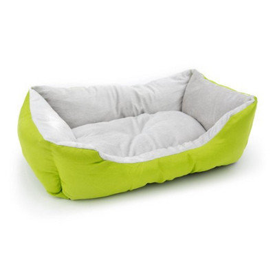 Aleko Soft Plush Pet Cushion Crate Bed Mat Color: Green