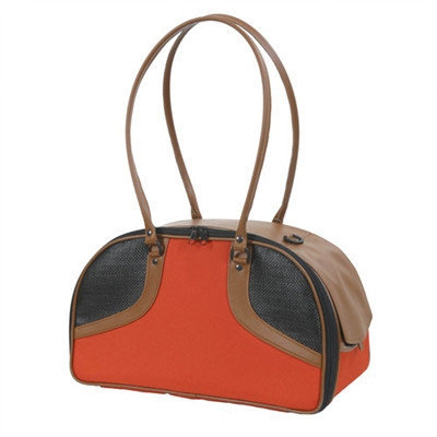 Petote Roxy Classic Pet Carier Color: Orange and Tan, Size: Large (11.5
