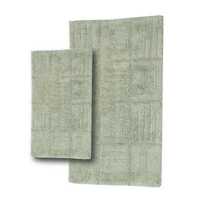 Textile Decor Castle 2 Piece 100% Cotton Chakkar Board Spray Latex Bath Rug Set, 24 H X 17 W and 30 H X 20 W
