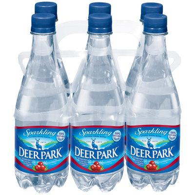 Deer Park Sparkling Natural Spring Water Cranberry .5L Single & 6 Pk Plastic Bottles