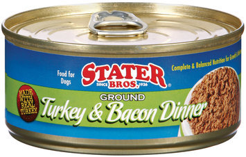 Stater Bros. Ground Turkey & Bacon Dinner Dog Food 5.5 Oz Can
