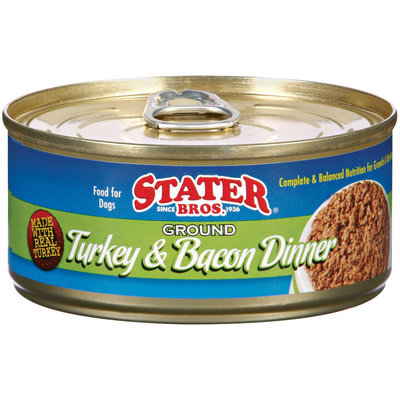 Stater Bros. Ground Turkey & Bacon Dinner Dog Food 5.5 Oz Can