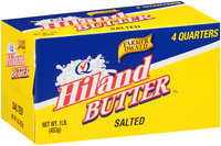 Hiland Salted 4 Quarters Butter 1 lb. Box