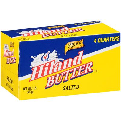 Hiland Salted 4 Quarters Butter 1 lb. Box
