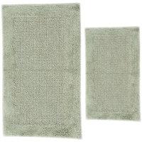 Textile Decor Castle 2 Piece 100% Cotton Naples Spray Latex Bath Rug Set, 24 H X 17 W and 40 H X 24 W