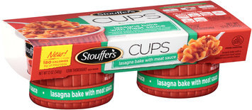 STOUFFER'S CUPS Lasagna Bake with Meat Sauce 2-6 oz. Cups