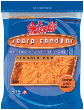 Miceli's Cheddar Sharp Classic Cut Shredded Cheese 8 Oz Peg