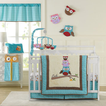 Laugh, Giggle & Smile Spotty Owls Crib Sheet