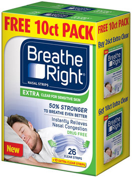 Breathe Right® Extra Clear Nasal Strips 26 ct + 10 Extra Clear Strips 36 ct. Box