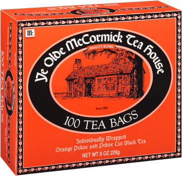 McCormick® Ye Olde McCormick Tea House Orange Pekoe and Pekoe Cut Black Tea Bags 100 ct Box