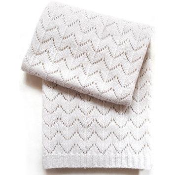 Esteffi Fan Stitch Wool Blend Baby Blanket (Set of 2) Color: Ivory