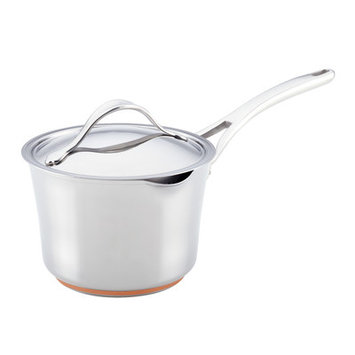 Anolon Nouvelle Copper Stainless Steel 3.5-qt. Covered Straining Saucepan