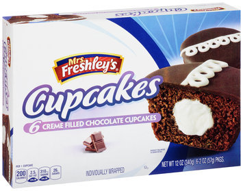 Mrs. Freshley's® Chocolate Cupcakes 6-2 oz. Packs