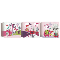 Lemon Ribbon Animal Sanctuary Printed Blocks (Set of 3)