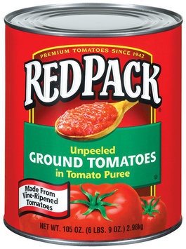 RedPack Ground Unpeeled In Tomato Puree Tomatoes 105 Oz Can