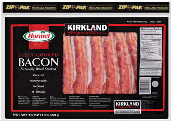 HORMEL Fully-Cooked Naturally Wood Smoked Bacon 16 OZ TRAY
