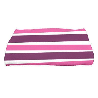 E By Design Hanukkah Stripes Bath Towel Color: Purple