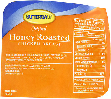 Butterball® Original Smoked Chicken Breast Honey Roasted Bag