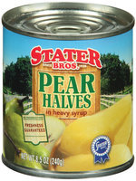 Stater Bros. In Heavy Syrup Pear Halves