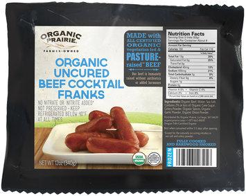 Organic Prairie® Frozen Organic Uncured Beef Cocktail Franks 12 oz. Pack