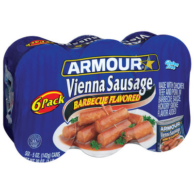 Armour Barbeque Flavored Vienna Sausage 30 Oz Package