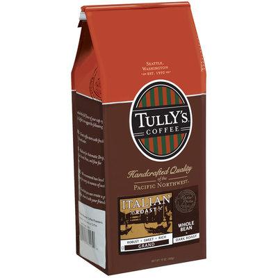 Tully's Coffee Grand Whole Bean Dark Roast Italian Roast 12 Oz Stand Up Bag