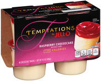 Jell-O Temptations Raspberry Cheesecake Snacks 4 ct Cups