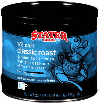 Stater Bros.® 1/2 Caff. Classic Roast Ground Coffee 25.4 oz. Canister