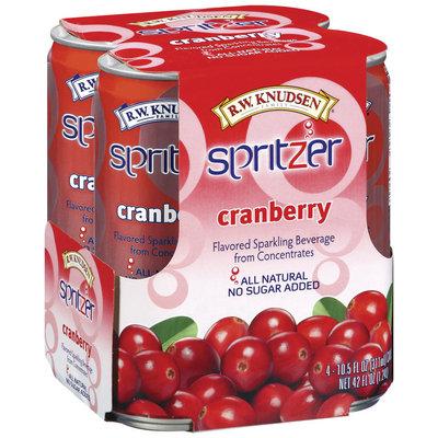 R.W. Knudsen Spritzer Cranberry Flavored 10.5 Oz Sparkling Beverage 4 Pk Cans