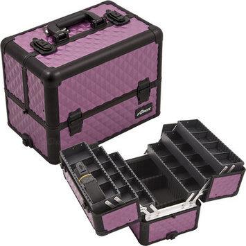 Sunrise Cases Sunrise E3304DMPLB Purple, Black Diamond Pro Makeup Case
