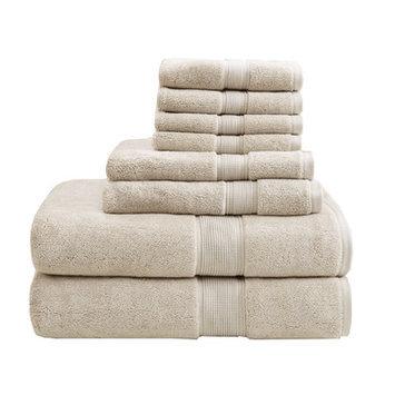 Madison Park Signature 800 GSM Cotton 8 Piece Towel Set Color: Natural