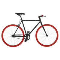 Vilano Fixed Gear Fixie Single Speed Road Bike Color: Black/Red, Frame Size: 54cm