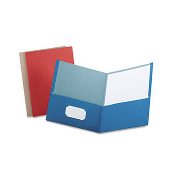 Esselte Pendaflex Corporation ESS78513 Earthwise Recycled Twin Pocket Portfolio- Letter- Asst.