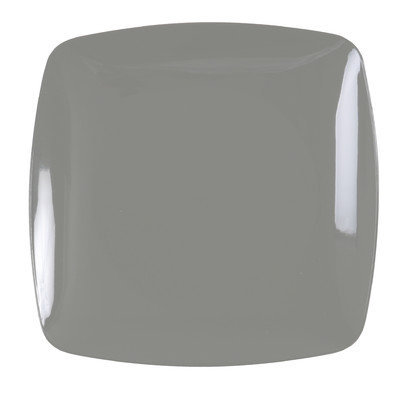 Fineline Settings, Inc Renaissance 10 Rounded Square China-Like Plates (Pack of 120), Silver