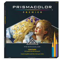 Prismacolor Verithin Colored Pencils - Set of 24 - Assorted Colors
