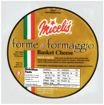 Miceli's Forme Di Formaggio Basket Cheese 1 Ct Package