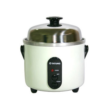 Tatung 3-Cup Multifunction Indirect Heat Rice Cooker Steamer and Warmer