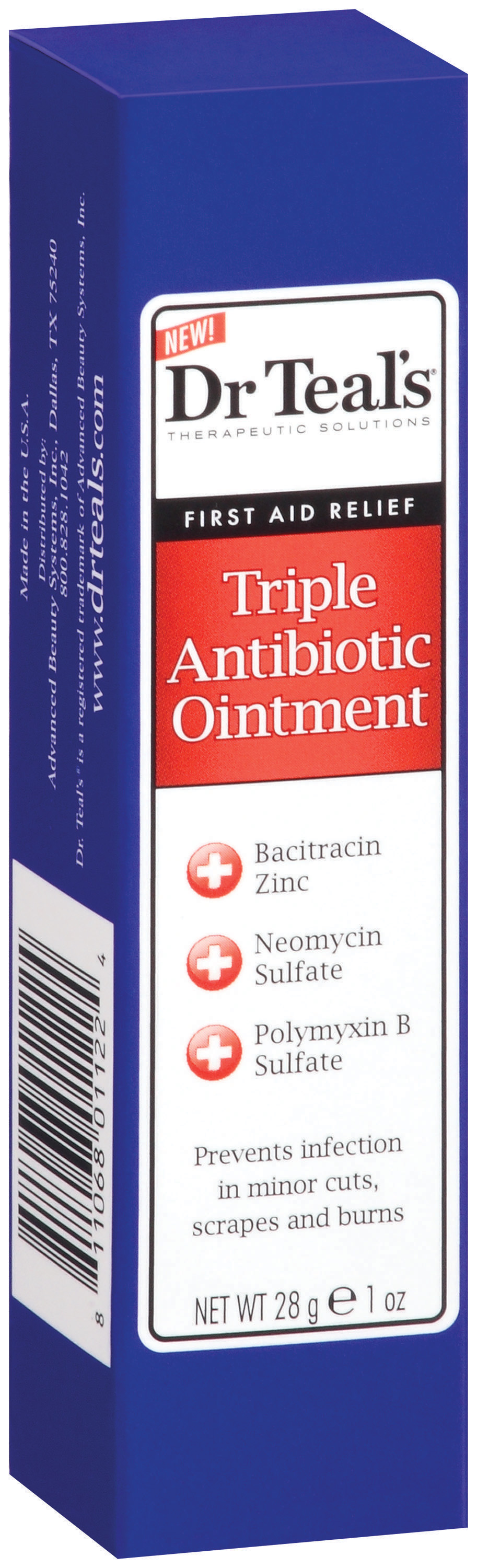 Dr. Teal's® First Aid Relief Triple Antibiotic Ointment 1 oz. Box