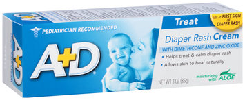 A+D® Diaper Rash Cream 3 oz. Box