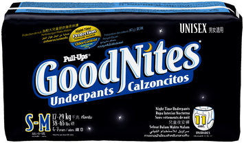 Pull-Ups® GoodNites* Unisex Small/Medium Night Time Underpants 11 ct Pack