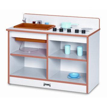 Jonti-Craft 0673JCWW003 Rainbow Accents 2-In-1 Toddler Kitchen- Blue