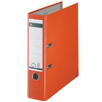 Leitz 180° 10105045 DIN A4 Plastic Lever Arch Folder 80mm Width, Orange