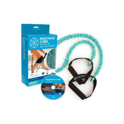 Gaiam Covered Medium Resistance Cord Workout Kit