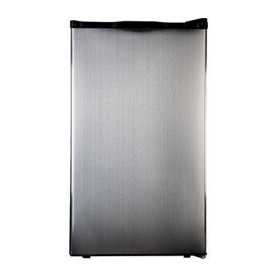 Haier 4 cu. ft. Stainless Steel Refrigerator & Freezer (Black)
