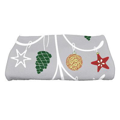 E By Design Coastal Christmas Pinecone Tree Bath Towel Color: Gray