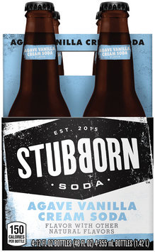 Stubborn Soda™ Agave Vanilla Cream Soda 4-12 fl. oz. Glass Bottles